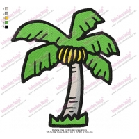 Banana Tree Embroidery Design